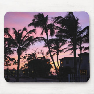 Purple Palm Tree Mouse Pad