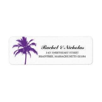 PURPLE Palm Tree | Return Address Label