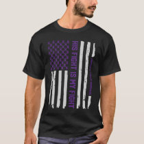Purple Pancreatic Cancer Awareness Ribbon T-Shirt