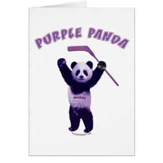 Purple Panda Hockey Bear Stationery Note Card