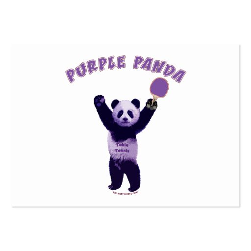 Purple Panda Ping Pong Business Card