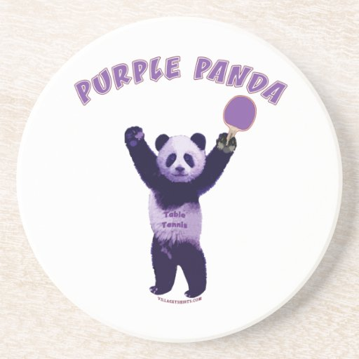 Purple Panda Ping Pong Coasters
