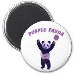 Purple Panda Ping Pong Fridge Magnet