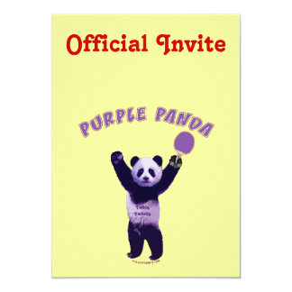Purple Panda Ping Pong Personalized Announcements