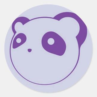 Purple Panda Round Sticker