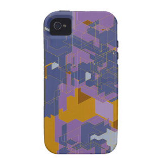 Purple Panels iPhone 4 Cover