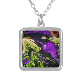 Purple Panic Silver Plated Necklace