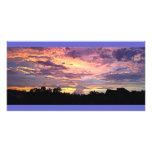 Purple Panoramic Sunset Photo Cards