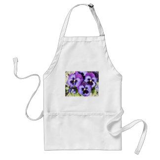 purple pansies adult apron