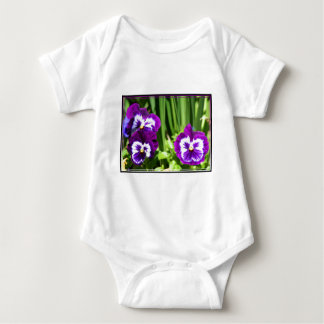Purple Pansies baby shirt