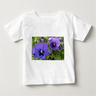 Purple Pansies Baby T-Shirt