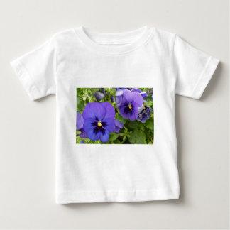 Purple Pansies Baby T-Shirt