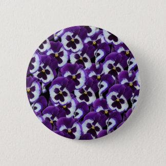 Purple_Pansies_Bouquet,_ Pinback Button