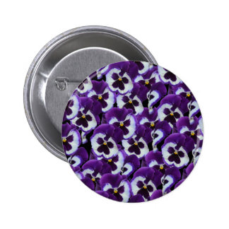 Purple_Pansies_Bouquet,_ Pinback Button