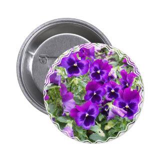 Purple Pansies Pin