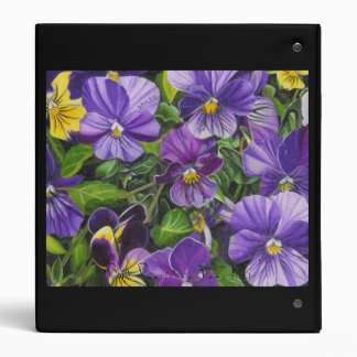 """Purple Pansies"" by Jenny Koch Binders"