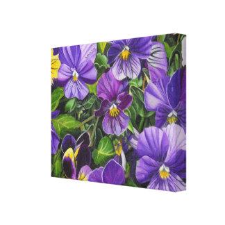 """Purple Pansies"" by Jenny Koch Canvas Print"