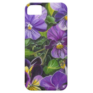 """""""Purple Pansies"""" by Jenny Koch iPhone 5 Covers"""