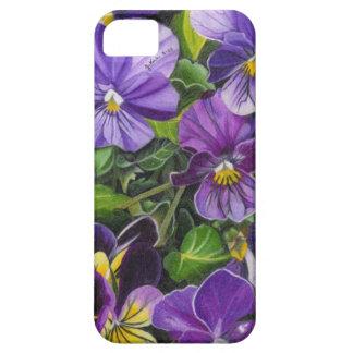 """Purple Pansies"" by Jenny Koch iPhone SE/5/5s Case"