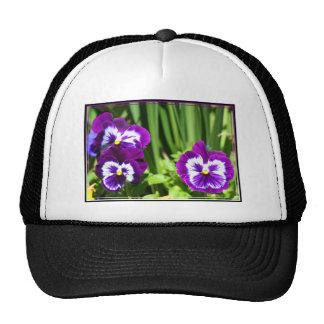 Purple Pansies cap Trucker Hat