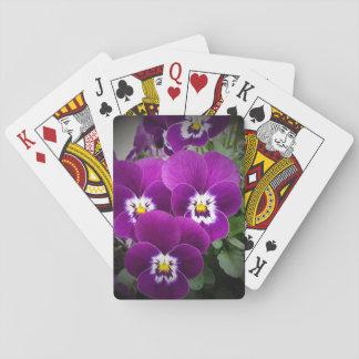 Purple Pansies Card Deck