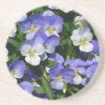 Purple Pansies Drink Coaster