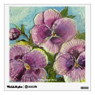 Purple Pansies Floral Wall Decal