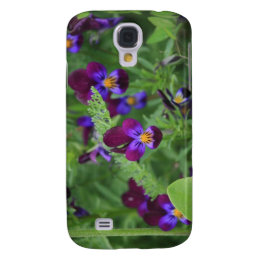 Purple Pansies Galaxy S4 Case