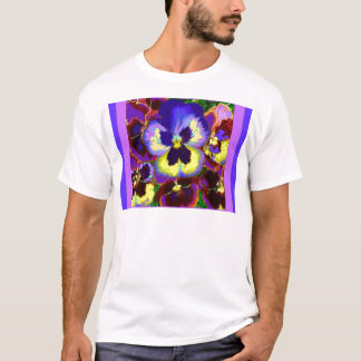 Purple Pansies Garden Gifts by Sharles T-Shirt