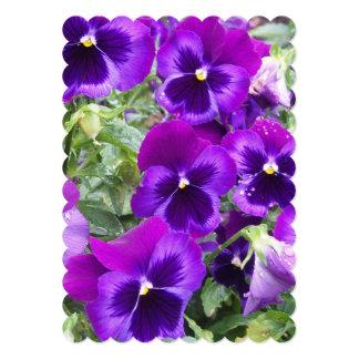 """Purple Pansies 5"""" X 7"""" Invitation Card"""