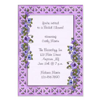 """Purple Pansies Invitation 5"""" X 7"""" Invitation Card"""