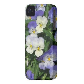 Purple Pansies iPhone 4 Case