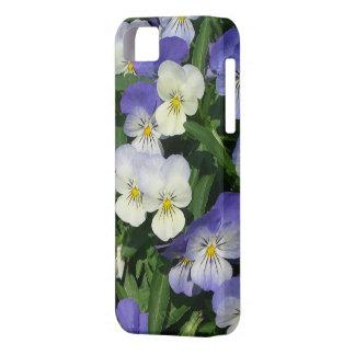 Purple Pansies iPhone SE/5/5s Case