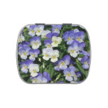 Purple Pansies Jelly Belly Tin