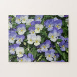 Purple Pansies Jigsaw Puzzle