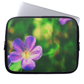 Purple Pansies Laptop Sleeve