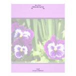 Purple pansies Lettterhead Letterhead Template