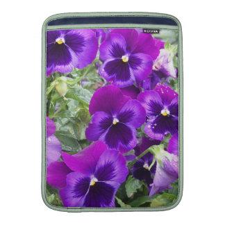 Purple Pansies MacBook Sleeves