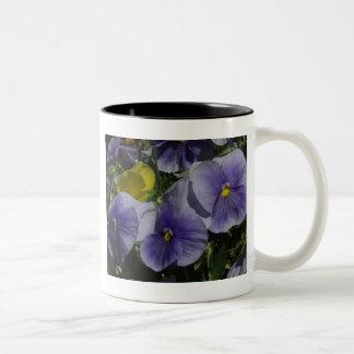 Purple Pansies Mug Two-Image Template