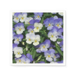 Purple Pansies Paper Napkin