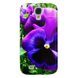 Purple Pansies Samsung Galaxy S4 Case