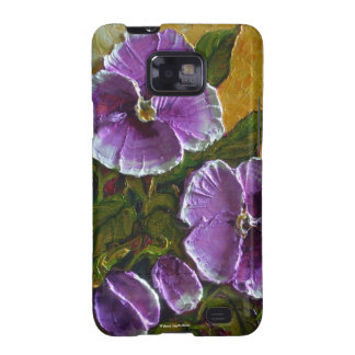 Purple Pansies Samsung Galexy Case Galaxy S2 Covers