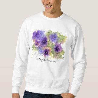 Purple Pansies Sweatshirt