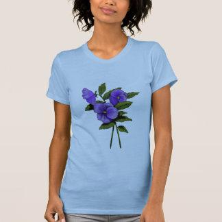 Purple Pansies, Violas: Color Pencil Art T-Shirt