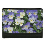 Purple Pansies Wallets For Women