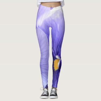 Purple Pansies with Yellow Center Floral, Photo 21 Leggings