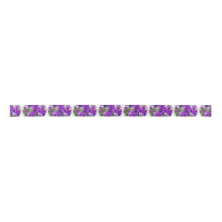 Purple Pansies Satin Ribbon