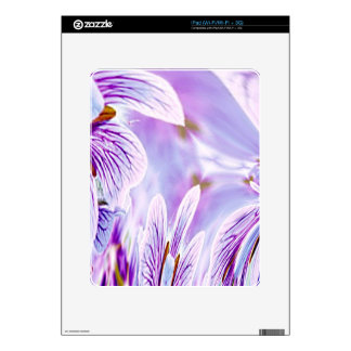 Purple Pansy Abstract Floral Skins Skin For The iPad