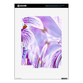 Purple Pansy Abstract Floral Skins Skin For iPad 3