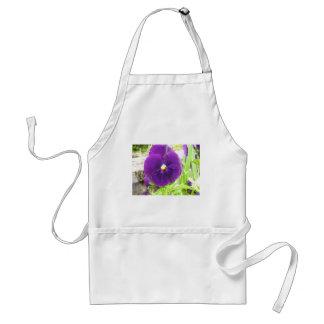Purple Pansy Adult Apron